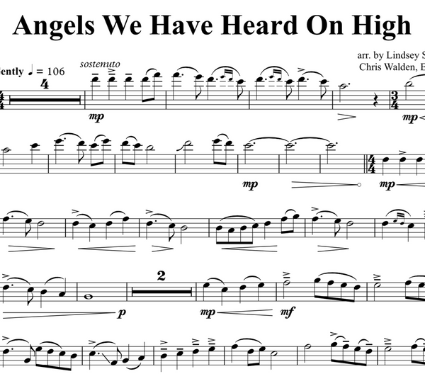 VIOLA Angels We Have Heard On High w/ KARAOKE Play-Along Tracks - Sheet Music