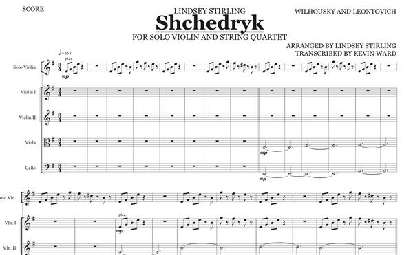 String Quartet + Solo Shchedryk / Carol of the Bells w/ KARAOKE