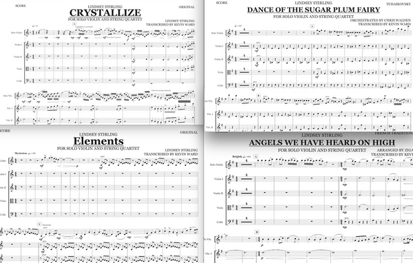 String Quartets+Vln Solos - Warmer in the Winter Tour Package - w/ KARAOKE Play-Along Tracks - Sheet Music