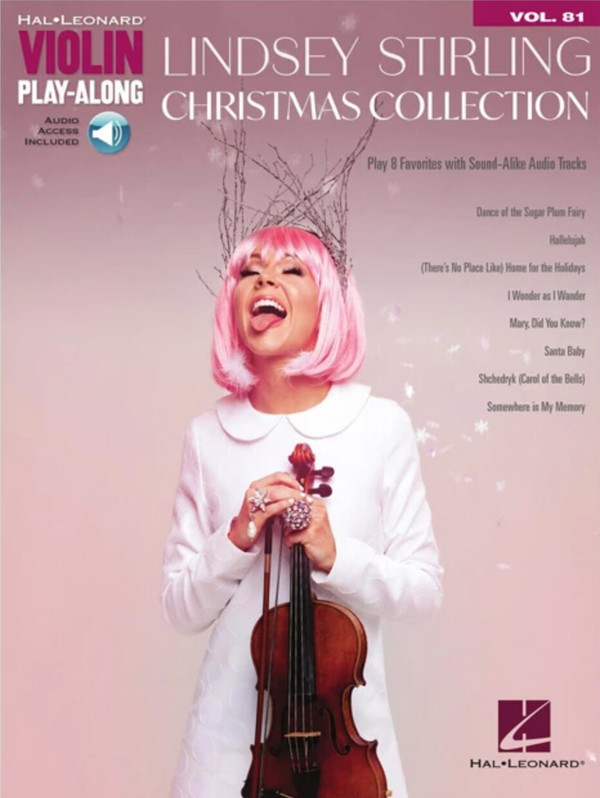 Lindsey Stirling Christmas Collection Play Along Book