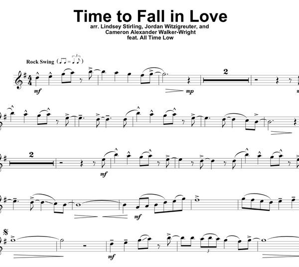 Time to Fall In Love Sheet Music w/ KARAOKE
