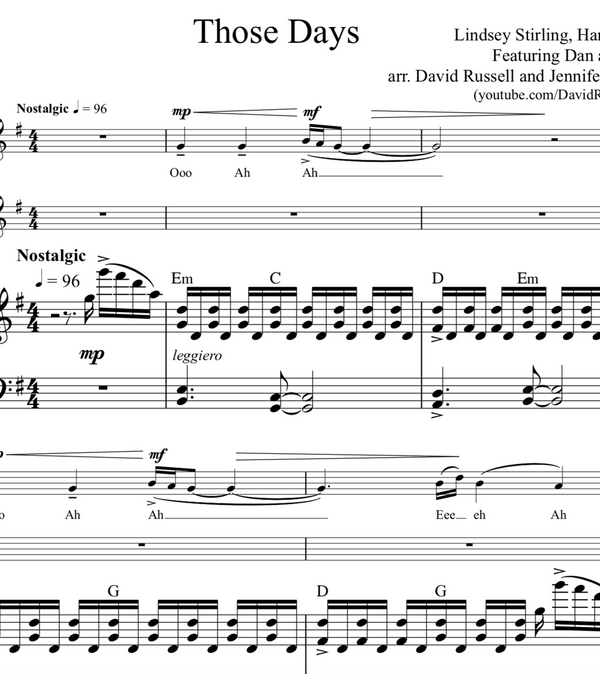 Those Days w/ KARAOKE Play-Along Tracks - Sheet Music