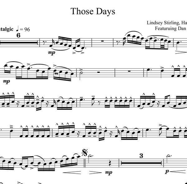 VIOLA Those Days Sheet Music w/ KARAOKE