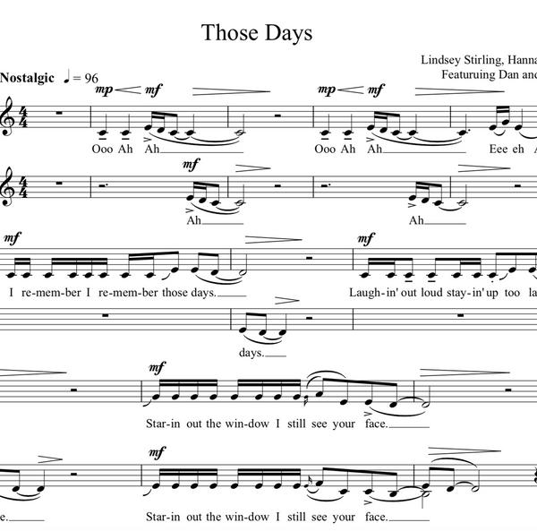 VIOLA Those Days w/ KARAOKE Play-Along Tracks - Sheet Music