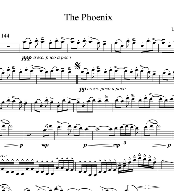 The Phoenix w/ KARAOKE Play-Along Tracks - Sheet Music