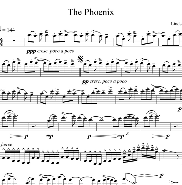 CELLO The Phoenix Sheet Music w/ KARAOKE