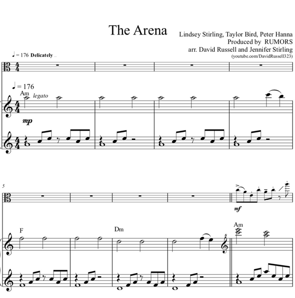 VIOLA The Phoenix Sheet Music w/ KARAOKE