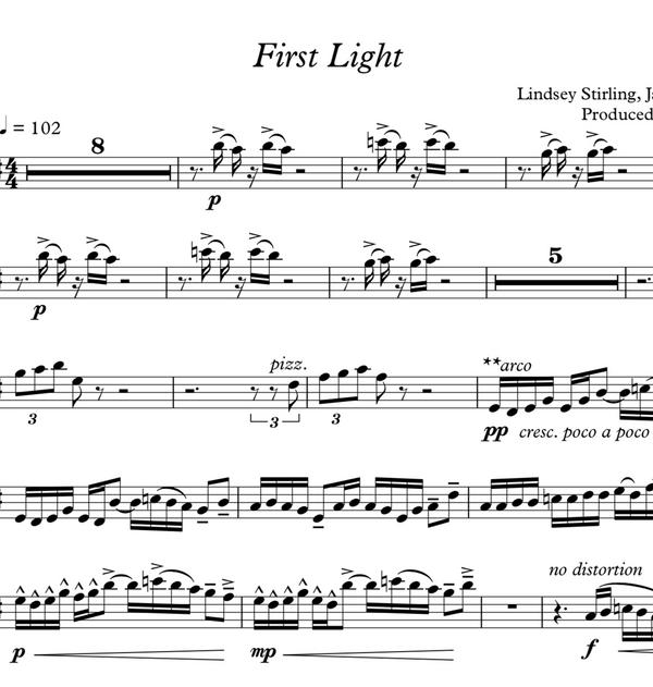 VIOLA First Light Sheet Music w/ KARAOKE