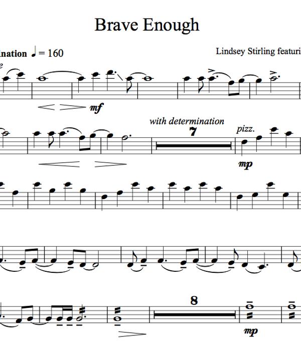 VIOLA Brave Enough Album - Sheet Music Package