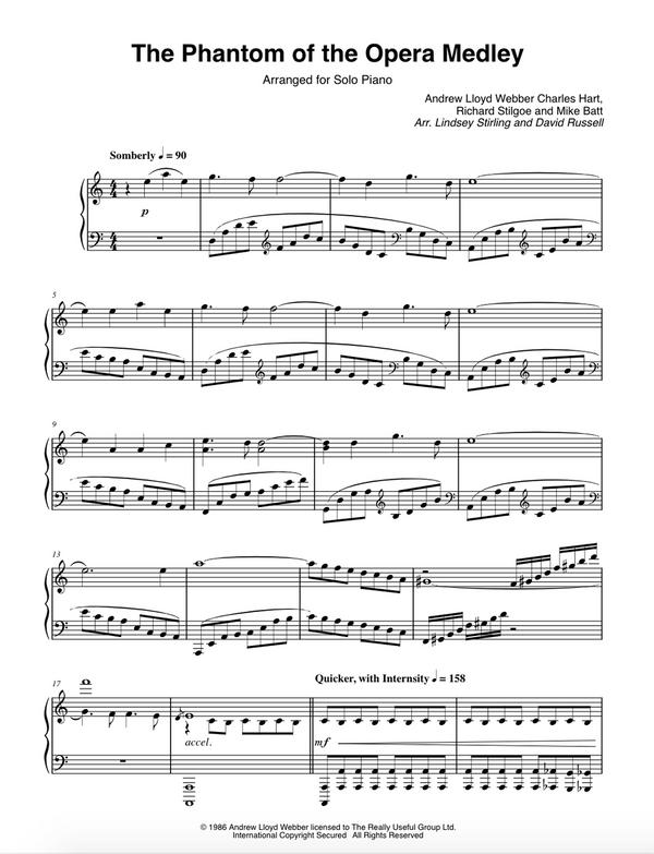PIANO -  Phantom of the Opera