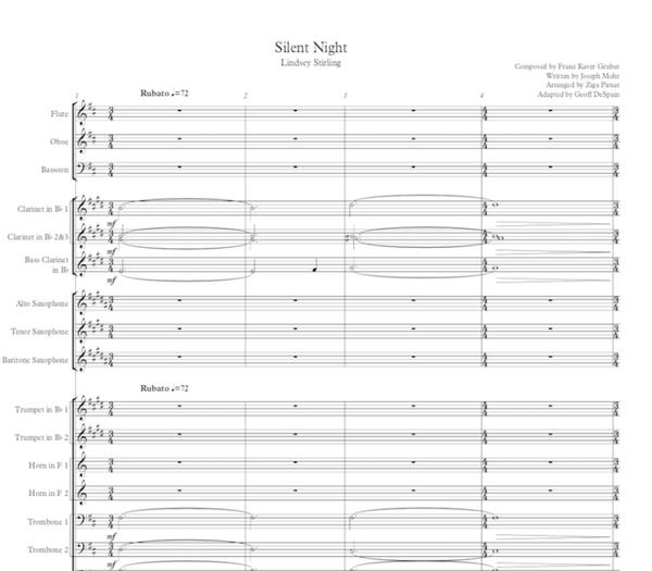 BAND Silent Night Sheet Music