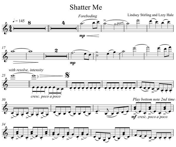 Best of Lindsey Stirling ULTIMATE Sheet Music Package