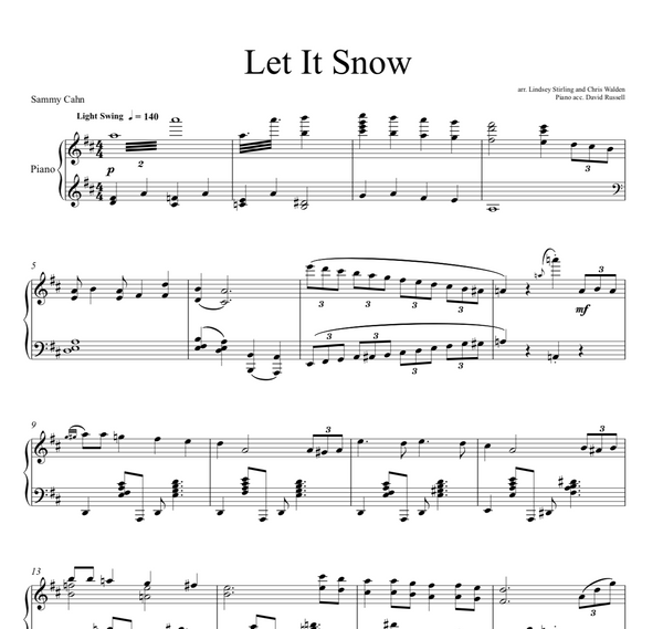 PIANO Let It Snow Sheet Music