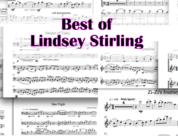 VIOLA Best of Lindsey Stirling ULTIMATE Sheet Music Package