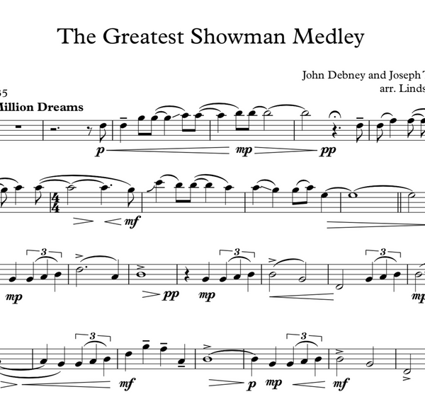 The Greatest Showman Medley Violin Solo w/ Karaoke Play-Along Track