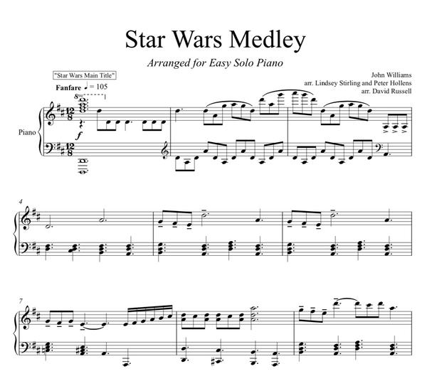 PIANO - Star Wars Medley