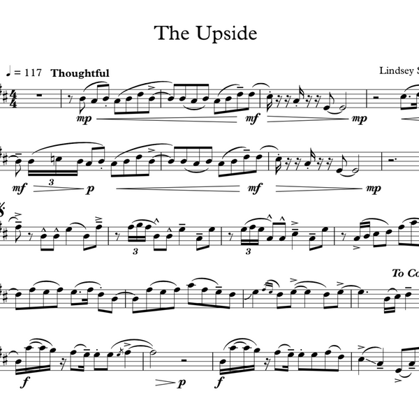 The Upside w/ Piano Accompaniment - Sheet Music