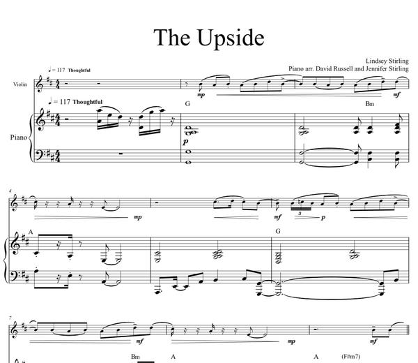 The Upside w/ Karaoke Play-Along Track - Sheet Music