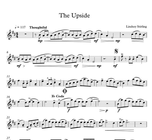 The Upside Sheet Music w/ Karaoke