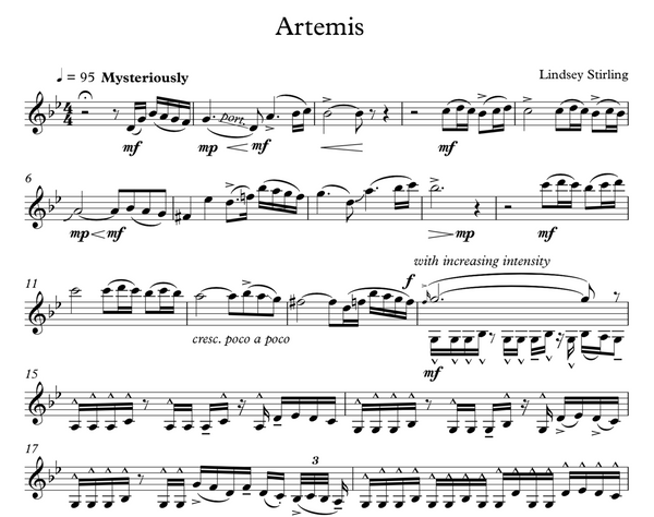 Artemis w/ Karaoke Play-Along Track - Sheet Music