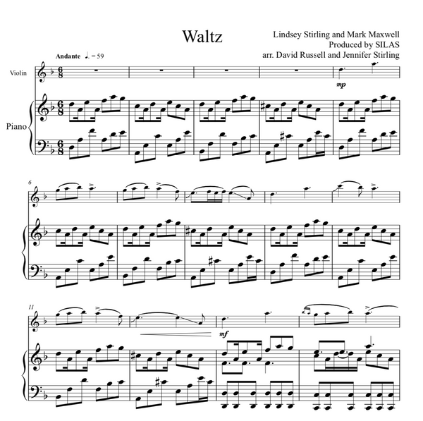 Waltz Sheet Music w/Piano Accompaniment - Sheet Music