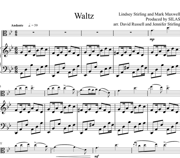 VIOLA Waltz w/ Piano Accompaniment - Sheet Music