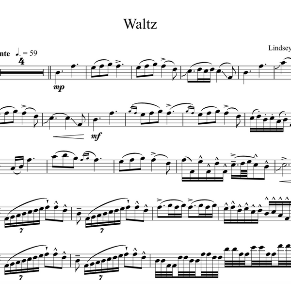 Cello Waltz w/ Karaoke Play-Along Track - Sheet Music