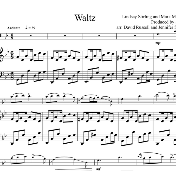 Cello Waltz Sheet Music w/ Karaoke