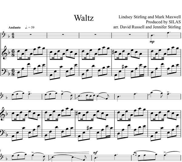 Cello Waltz w/ Piano Accompaniment - Sheet Music