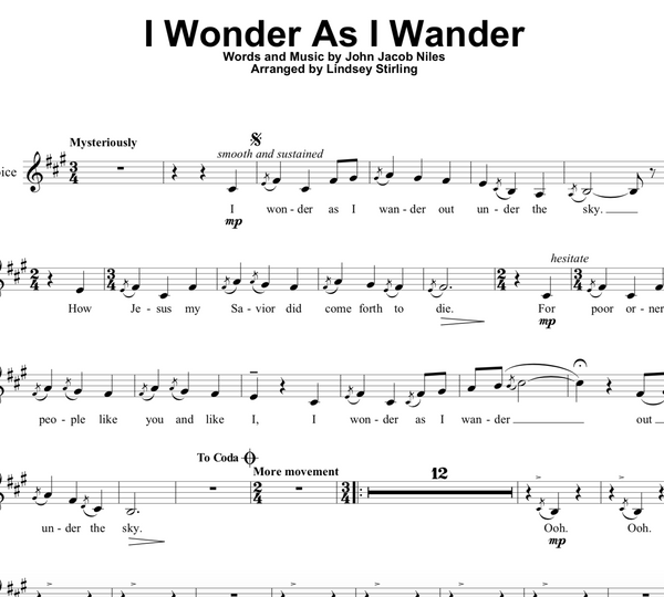 I Wonder As I Wander w/ Karaoke Play-Along Tracks
