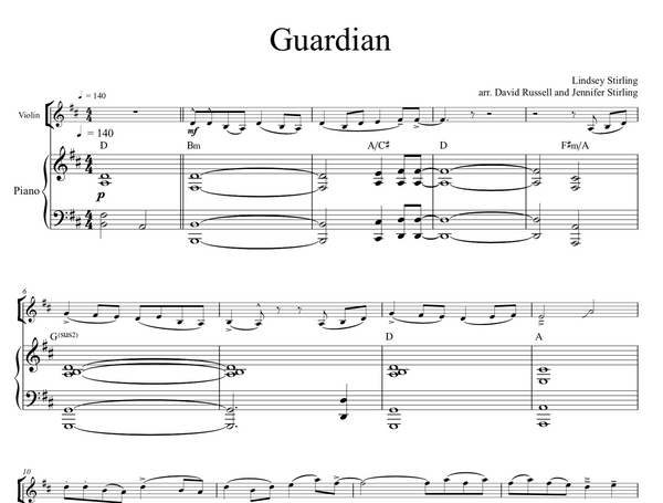 Guardian Sheet Music w/ Karaoke