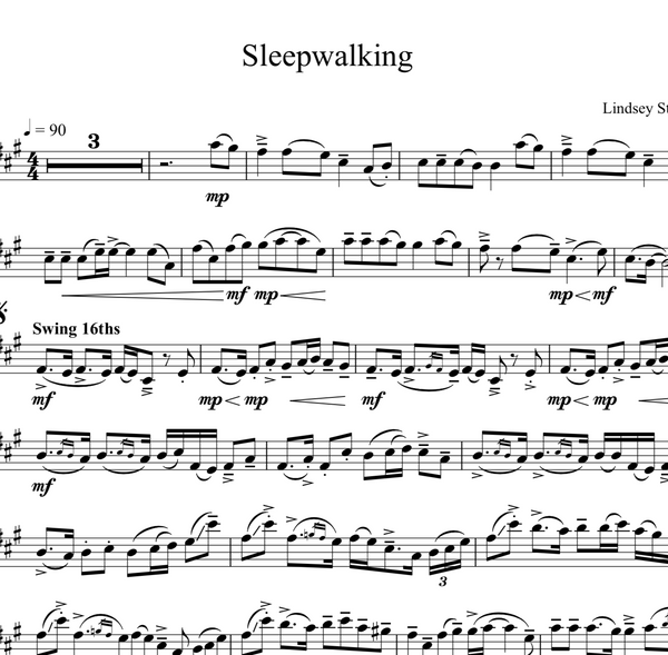 Sleepwalking Sheet Music w/Piano Accompaniment - Sheet Music