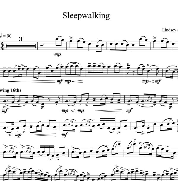 Cello Sleepwalking w/ Karaoke Play-Along Tracks - Sheet Music