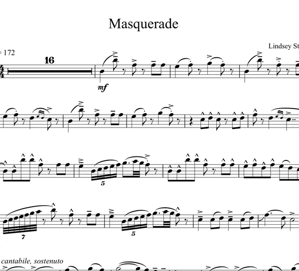 VIOLA Masquerade w/ Karaoke Play-Along Tracks - Sheet Music