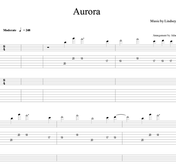 GUITAR - Aurora - Sheet Music