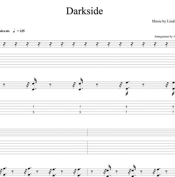 GUITAR - Darkside - Sheet Music