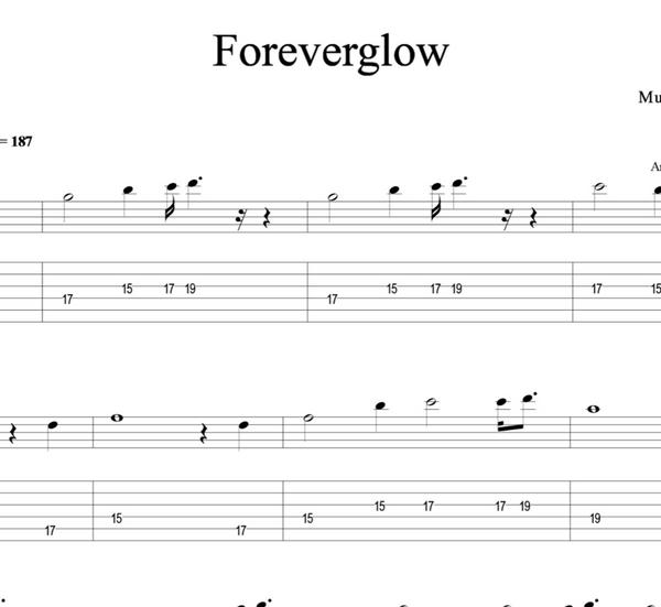 GUITAR - Foreverglow - Sheet Music