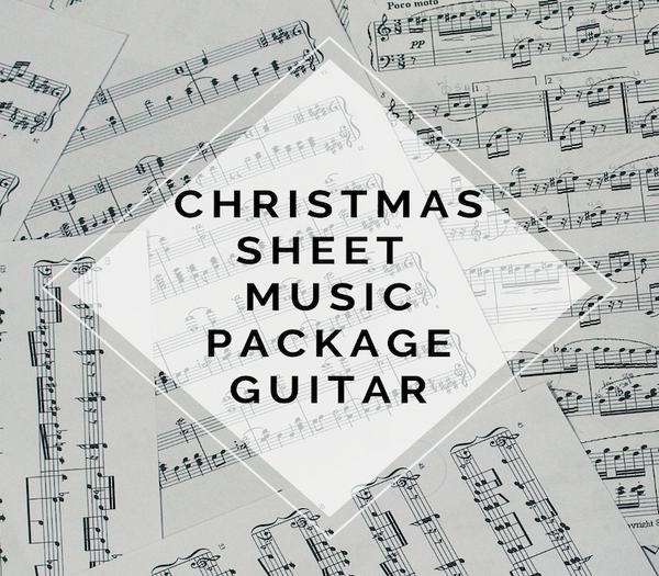 GUITAR Christmas Sheet Music Package
