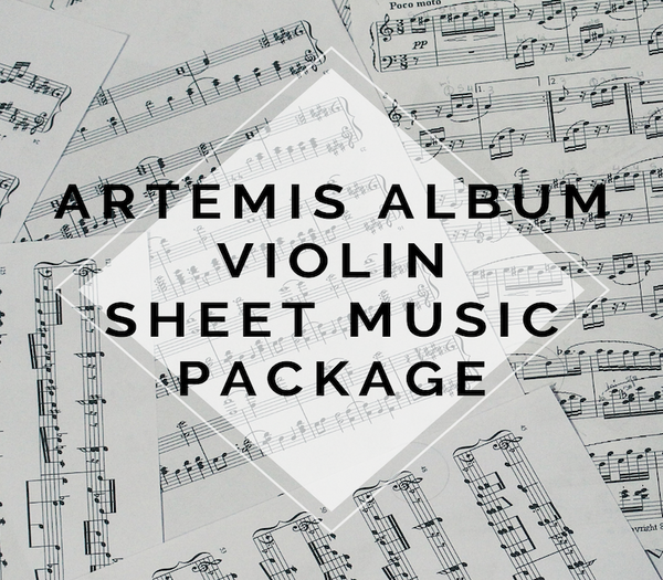 Artemis Album Violin Sheet Music Package