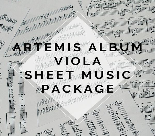 Artemis Album VIOLA Sheet Music Package