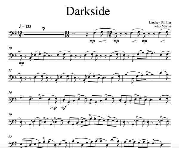 Cello Darkside Sheet Music w/ Karaoke