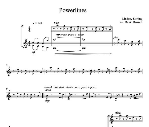 Powerlines Sheet Music w/KARAOKE