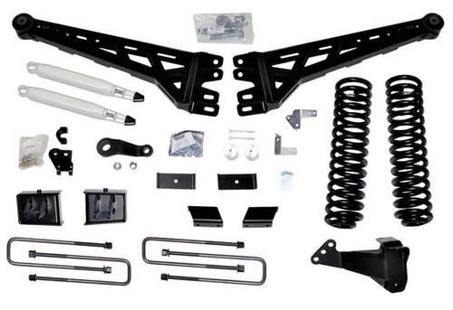 "Ford F-450 2019-2021 McGaughys 6"" Radius Arm Lift Black w/ Billet Face Plates"