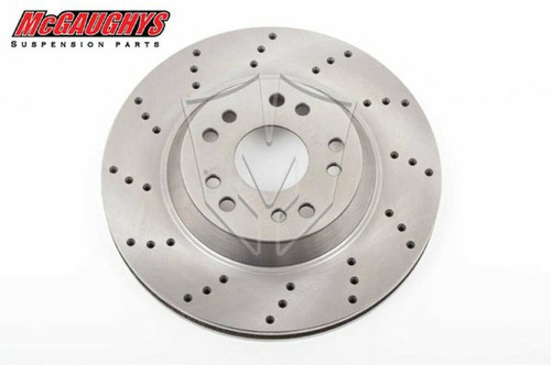 """GM Car 13"""" McGaughys Big Brake Replacement Rotor 5x4.75 Cross Drilled Driver Side"""