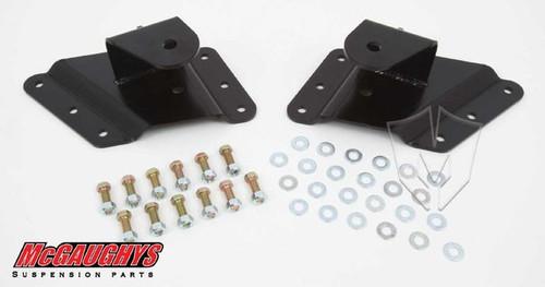 """Chevrolet Silverado 2500/3500HD (8 Hole Hanger) 2002-2010 Rear 2""""-3"""" Drop Hangers - McGaughys Part# 33086"""