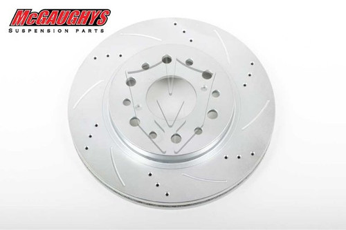 """Chevrolet C-10 1960-1987 13"""" Cross Drilled Disc Brake Rotor; 6x5.5 Bolt Pattern - Driver Side - McGaughys Part# 63141"""