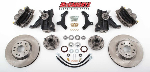 "Chevrolet C-10 1963-1970 13"" Front Disc Brake Kit & 2.5"" Drop Spindles; 5x5 Bolt Pattern - McGaughys Part# 63151"