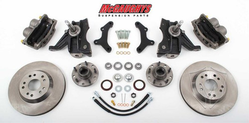 "GMC C-10 1971-1972 13"" Front Disc Brake Kit & 2.5"" Drop Spindles; 5x4.75 Bolt Pattern - McGaughys Part# 63152"