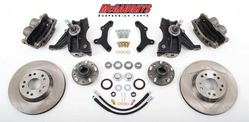 "GMC C-10 1971-1972 13"" Front Disc Brake Kit & 2.5"" Drop Spindles; 5x5 Bolt Pattern - McGaughys Part# 63153"