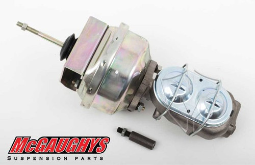 "GMC C-10 1960-1966 7"" Brake Booster With Master Cylinder & Bracket; Front Drum Brakes - McGaughys Part# 63178"